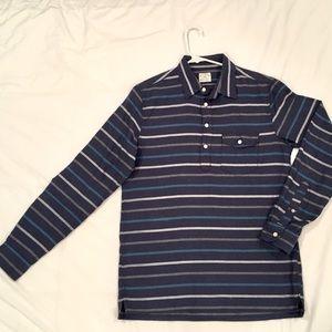 JCrew men's small, navy stripe long sleeve shirt
